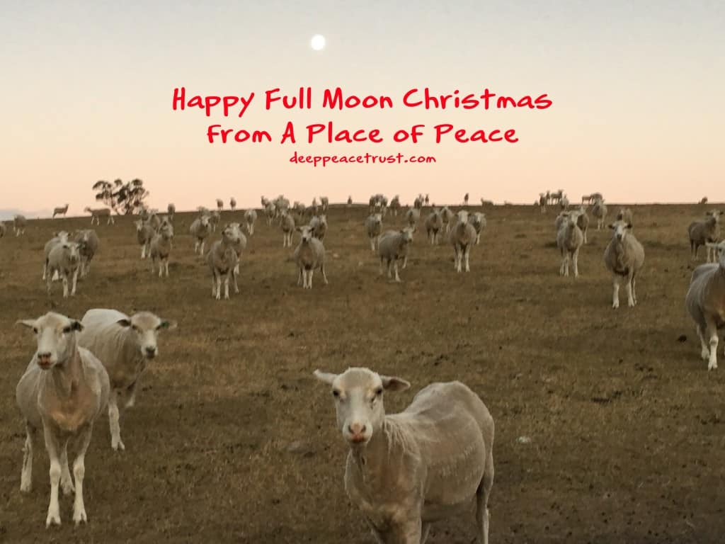 Happy Full Moon Christmas from A Place of Peace and the Deep Peace Trust